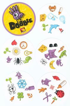 game sheme- a good start point to edit a thematic Dobble game (eg. for Halloween or a thematic bd party)Dobble game sheme- a good start point to edit a thematic Dobble game (eg. for Halloween or a thematic bd party) Montessori Activities, Toddler Activities, Games For Kids, Diy For Kids, Double Game, Speech Therapy Games, Halloween School Treats, Kindergarten Games, Speech Therapy