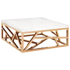Raytona Coffee Table in Copper Chrome Finish and Marble Top   1stdibs.com