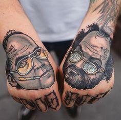 Hunter Thompson & Stanley Kubrick Tattoo
