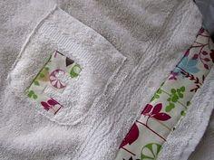 Spa wrap with a pocket #sewing #tutorial #spa #towel #wrap #bath