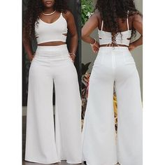 All white party ideas All White Party Outfits, All White Outfit, Summer Outfits, Casual Outfits, White Fashion, Look Fashion, Fashion Outfits, Two Piece Pants Set, Look Chic