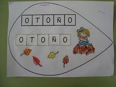 Plastificando ilusiones: ¡¡Componemos la palabra OTOÑO!!