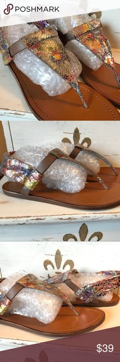 Nanette Lepore Iridescent Colorful Sandals Size 7 Wore 1x - Made in Italy - Size 37 - If you have any questions or concerns, please let me know. Thank you for looking at my listing. Have a blessed day! Nanette Lepore Shoes Sandals