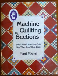 Book Machine Quilting in Sections by Marti by SuesFabricNSupplies, $19.95