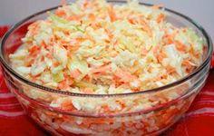 Super tasty white cabbage and carrot salad like from the restaurant Top-Rezepte.de - Super tasty white cabbage and carrot salad like from the restaurant - Grilling Recipes, Beef Recipes, Salad Recipes, Vegan Recipes, Cooking Recipes, Carrot Recipes, Snacks Recipes, Feta, Carrot Salad