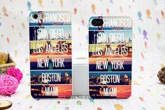 Dizajnový a elegantný kryt na iPhone 5 s motívom miest USA. Na zadnej strane nájdete Mestá San Francisco, San Diego, Los Angeles, New York, Boston, Miami. Zaujmite svoje okolie elegantným a netradičným obalom určeným pre Váš iPhone 5 alebo 5s. Poštovné je zadarmo.