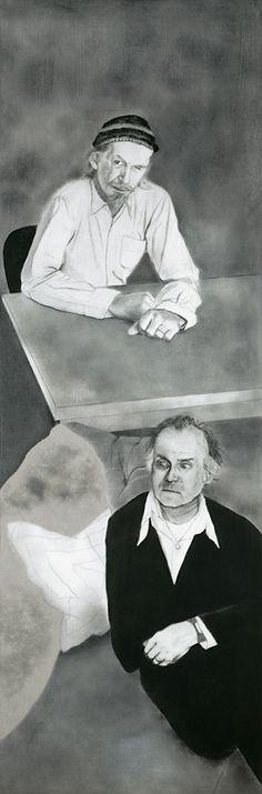 R.B. Kitaj - A Visit to London (Robert Creeley and Robert Duncan), 1977. Oil and coal on canvas.