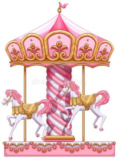 Illustration about Illustration of a carousel ride on a white background. Illustration of carousel, cone, carrousel - 43089065 Unicorn Illustration, Illustration Art, Horse Party Decorations, Horse Background, Background Images, Horse Mural, Carousel Party, Carousel Horses, Vector Clipart
