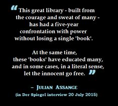In an interview, Julian Assange, talks about the comeback of the WikiLeaks whistleblowing platform and his desire to provide assistance to a German parliamentary committee that is investigating mass NSA spying. Nsa Spying, Interview, Spiegel Online, Cases, Let It Be, Education, Books, Free, Libros
