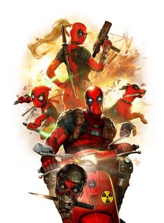 Marvel Deadpool Corps Premium Art Print by Sideshow Collectibles Comic Book Characters, Marvel Characters, Comic Character, Comic Books Art, Comic Art, Special Characters, Lady Deadpool, Deadpool Art, Deadpool Pics