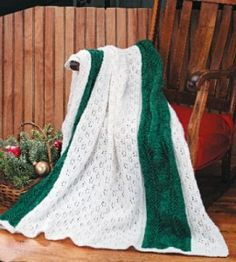 Snowy Evergreen Afghan - This wintry knitting has cold months covered - in more ways than one!