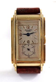 ROLEX PRINCE RAILWAY DOCTOR'S GOLD FILLED WATCH. REF 1527 MEN'S 1930'S #Rolex