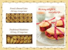 Madeleine and French Almond Cake Trays for the trade | Repin this during the month of May 2014 for the chance to win five boxes of Madeleines!