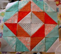 HST Diamond Quilt Block Tutorial 1