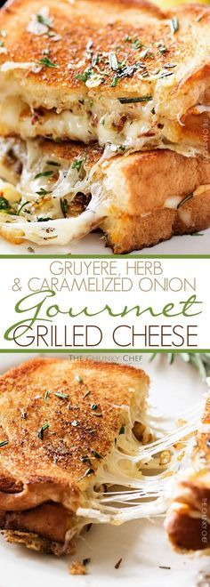 Ultimate Grilled Cheese | Gooey Gruyere and white cheddar cheese, savory…