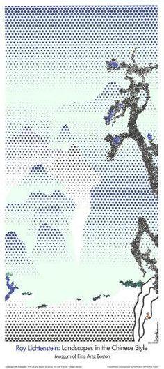 Roy Lichtenstein-Water Lilies with Japanese Bridge-2007 Poster
