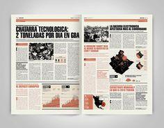 Newspaper Design_01 by Boris Vargas Vasquez, via Behance
