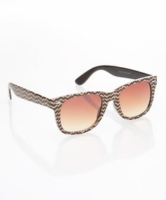 Look at this Eye Design Brown Zigzag Retro Sunglasses on #zulily today!