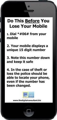 Do this before you lose your cell phone!!...