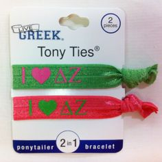 Sorority Hair Ties - Delta Zeta- These are great for Big/Little gifts
