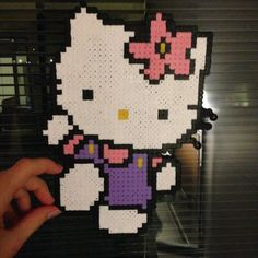 Hello Kitty perler beads by askehovvergara