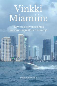 Veneajelu on mahtava tapa nähdä #Miami ja sen luksusasunnot mereltä käsin, ja mikäs sen parempi kuin pikavene... #matkailu #mondolöytö #Florida