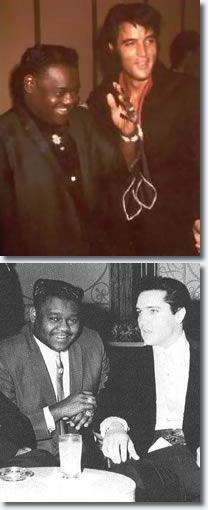 Fats Domino & Elvis Presley.