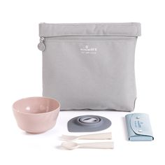 The products you love in an easy to grab tote. Our Travel set is perfect for playdates, travel, school lunches and more! The depth and shape of the cereal bowl gives room to practice how to scoop up food early on. This bowl is perfect for baby food, cereal & yogurt.The detachable suction foot allows your child to learn to feed themselves with all kinds of food. Unlike other baby bowls with a permanently attached suction foot, Miniware will continuously grow with your little ones when they...