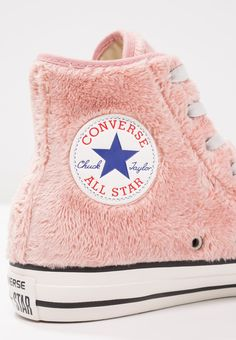 Sneakers women - Converse ALL STAR HI FAUX FUR pink