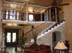 staircase design 2 story open | Catwalk Staircase Design Ideas, Pictures, Remodel and Decor