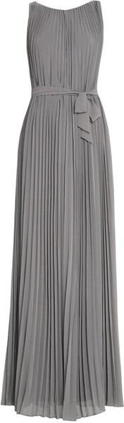Pretty pleated grey dress, accessorize it with neon !!!!