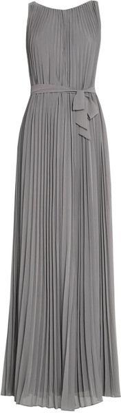 Pretty pleated grey dress, accessorize it with neon !!!!