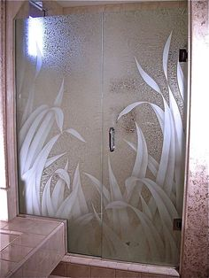 Decorations Accessories, : Frosted Glass Reed Design Bathroom Double Door Inspiration For Contemporary Bathroom Design Ideas Bathroom Window Glass, Glass Shower Doors, Bathroom Doors, Glass Doors, Glass Showers, Bathroom Tray, Shower Walls, Bathroom Showers, Design Bathroom