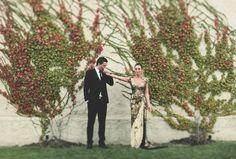 Gold Wedding Dress // Eileen + Ben by Katie & Sarah Photography
