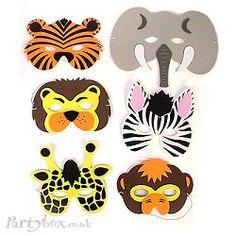 jungle animal masks {jungle party}