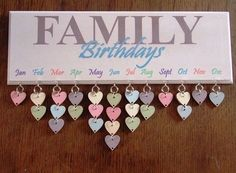 Mit so einem schönen Geburtstagskalender vergesst ihr bestimmt keine Geburtstage mehr! :-) Der Family Birthday Kalender ist auch eine sehr kreative und persönliche Geschenkidee.