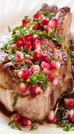 pork chops with pomegranate glaze holiday dinnerholiday partieschristmas entertainingbest - Best Christmas Dinners