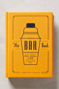 Christmas Gift Ideas: The Essential Bar Book #giftsforhim