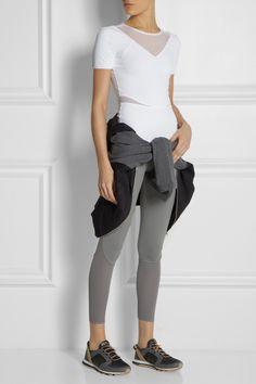 Adidas by Stella McCartney Run Climalite® stretch-jersey T-shirt NET-A-PORTER.COM