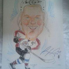 Gabriel Landeskog signed  Colorado Avalanche hand drawn sketch
