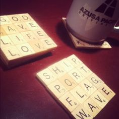 Scrabble coaster set! The Zickefoose Family: Crafty Crafts