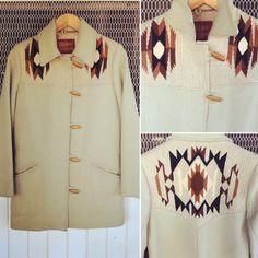 Vintage Taupe Wool CHIMAYO Coat / Made by Pioneer by AvionVintage