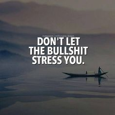 awesome Inspirational Positive Quotes :Don't let the bullshit stress you..