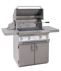 Solaire 30-Inch Stainless Steel Infrared Propane Cart Grill with Rotisserie Kit