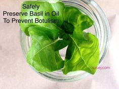 There is a quite popular method of preserving basil in olive oil so that it lasts for up to one year all over Pinterest. I was skeptical. Because infused oliv #cookingmethod #cooking #method #teaching