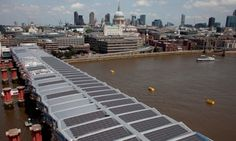 The roof of Blackfriars bridge has been covered with 4,400 #SolarPanels, providing up to half of the #energy for London Blackfriars station