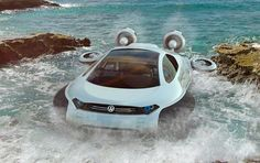 "The Volkswagen Aqua is a futuristic hovercraft concept created by Yuhan Zhang, a 21 year old designer from China. Yuhan just graduated with honors from Xihua University with a degree in Industrial Design. The Aqua concept was shortlisted in the CDN Car Design Awards China, based on the brief entitled simply; ""Chinese off-road vehicle"" by Volkswagen. The competition was sponsored by the German manufacturer."