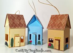 milk carton houses - milk carton crafts for kids House Ornaments, Paper Ornaments, Milk Carton Crafts, Milk Cartons, Craft Activities For Kids, Crafts For Kids, House Warming Ceremony, Housewarming Card, Mini Milk