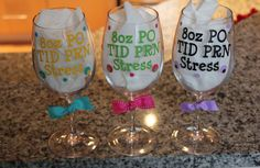 Personalized Acrylic Wine Glass for anyone in the by 2Lollies