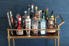 How stunning is this bar cart Annie got from Target? It holds one of her entertaining secrets: she'll often...